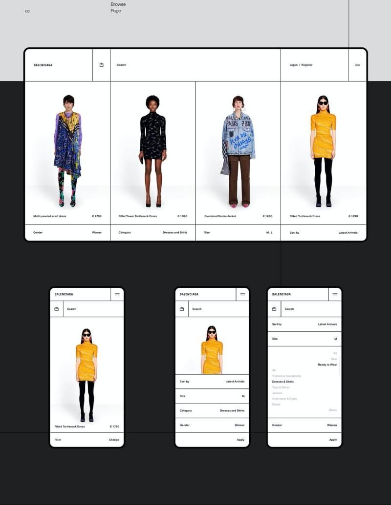 Balenciaga 网页设计欣赏