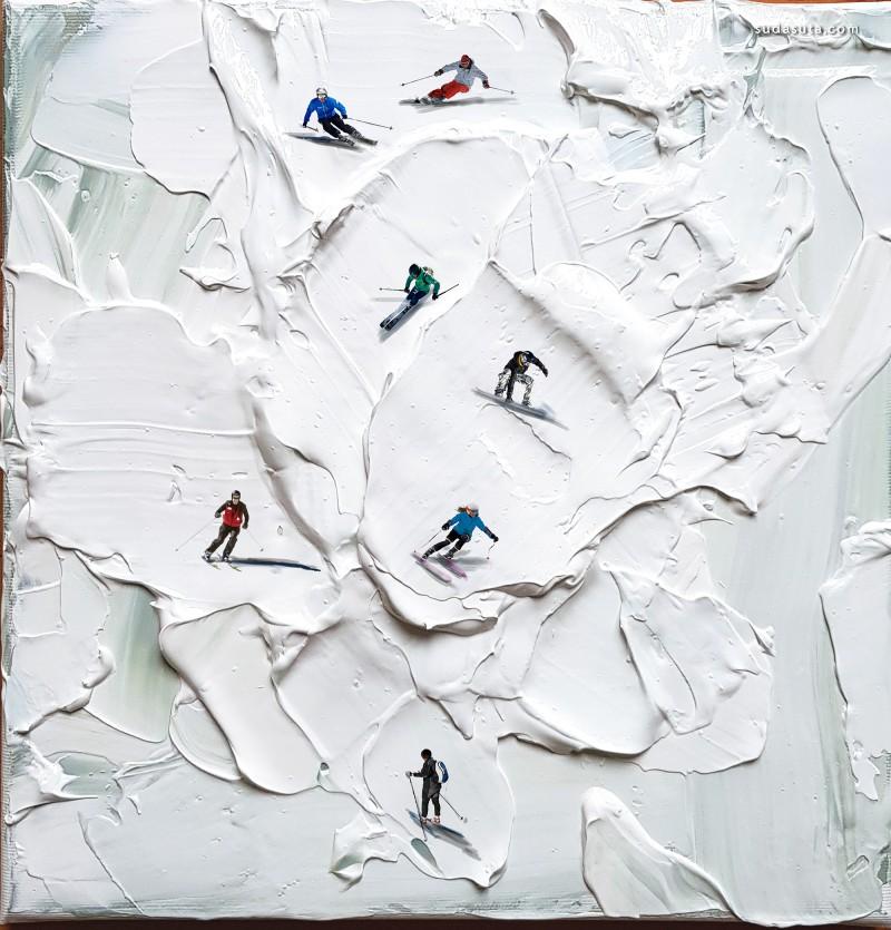 Golsa Golchini 有趣的迷你混合艺术