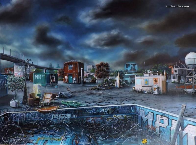 Nicola Caredda 噩梦 超现实主义绘画艺术欣赏