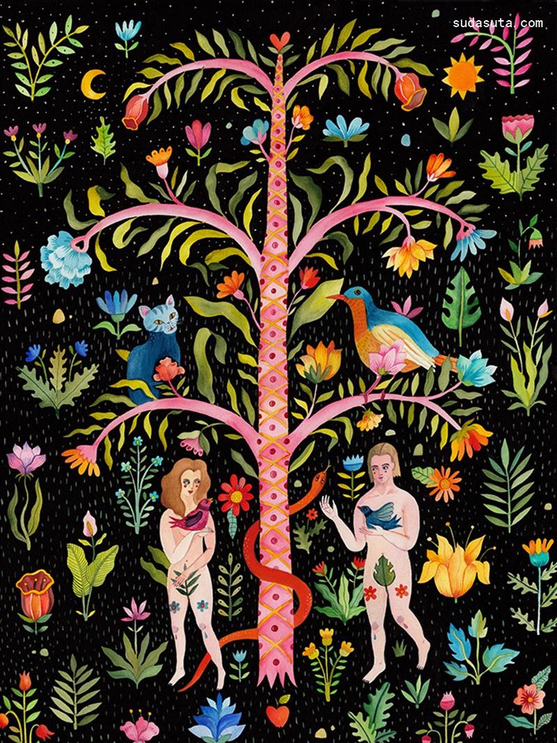 Aitch 伊甸园 装饰插画欣赏