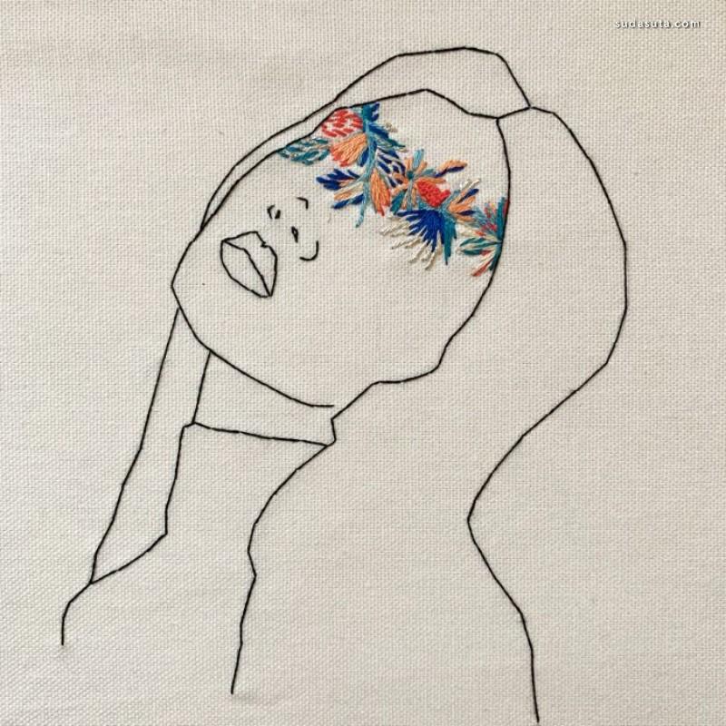 Cécile Davidovici 刺绣的艺术