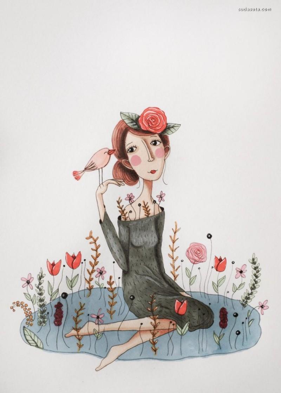 Femke Nicoline Muntz 温暖简约的女性插画