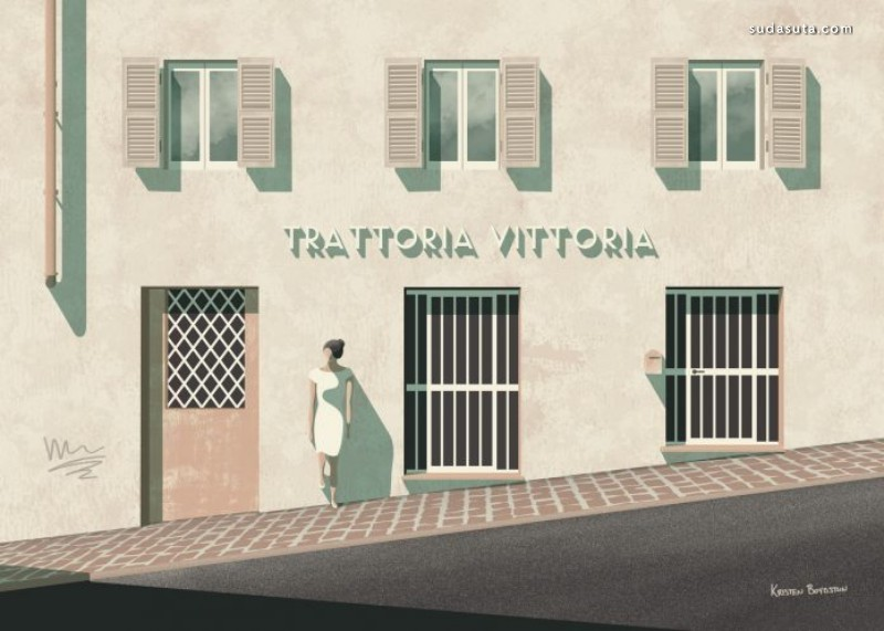 Kristen Boydstun 安静的画面 极简主义绘画作品欣赏