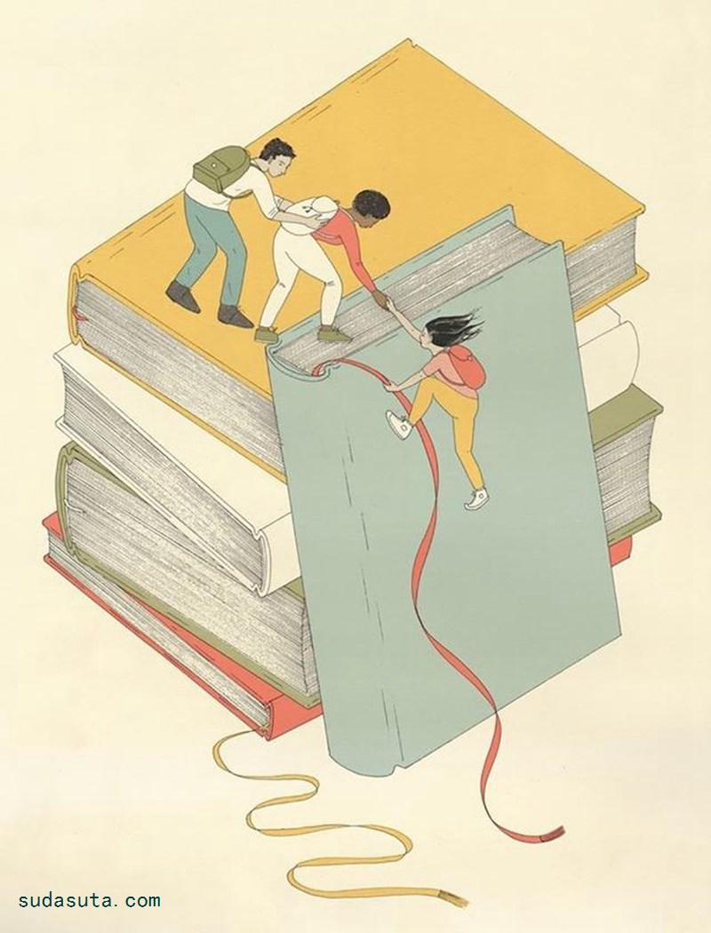 Harriet Lee-Merrion 温馨浪漫的书籍插画