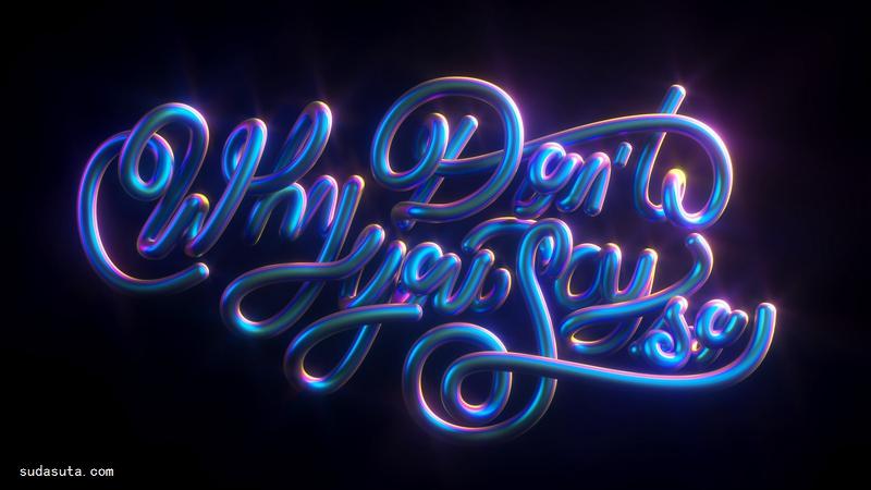 Cinthya Garcia和Marco Segovia 3D字体渲染作品欣赏