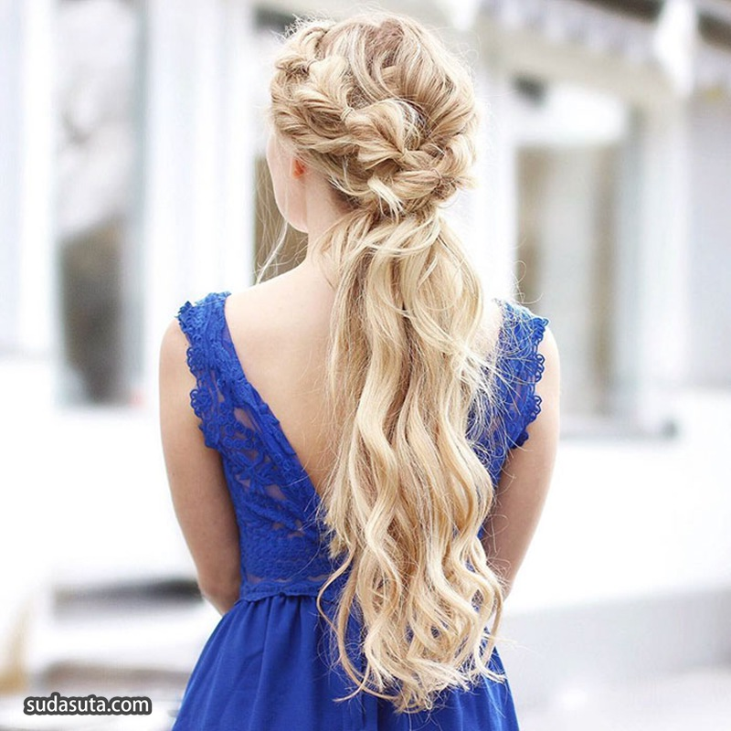 Elvira Jonsson 时尚编发 迪士尼公主的长头发