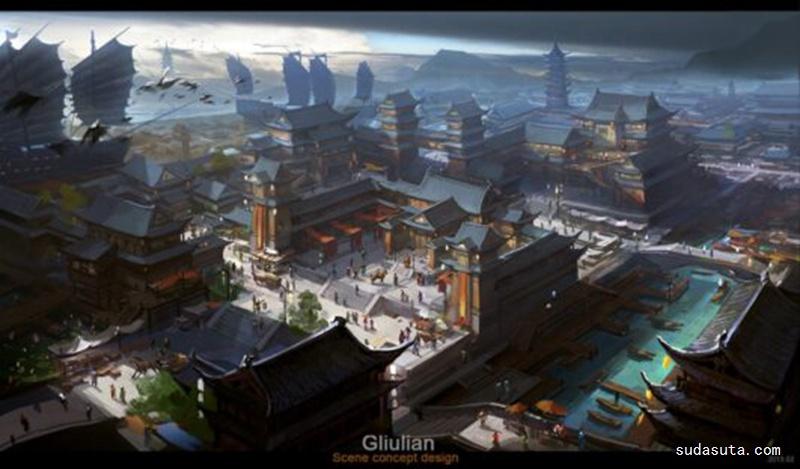 G. Liulian 概念插画欣赏