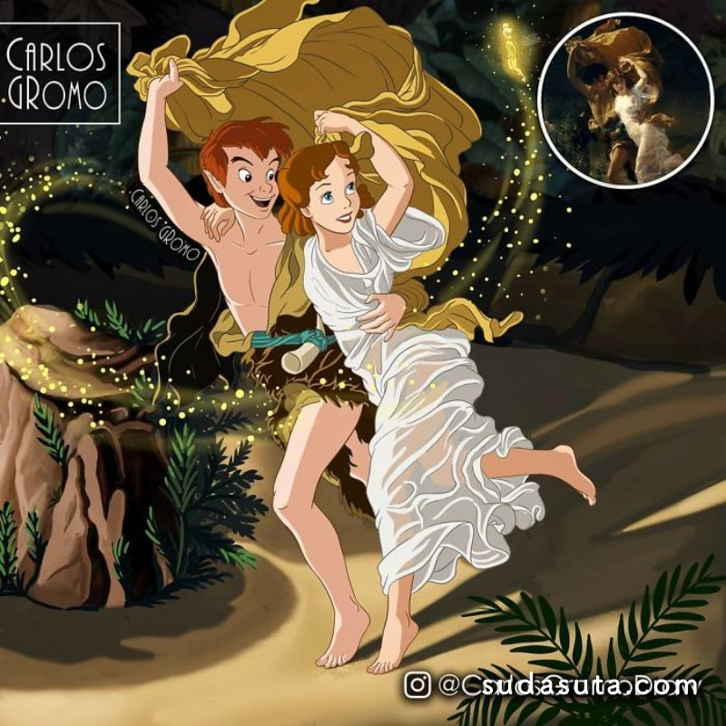 CARLOS GROMO 迪士尼同人插画欣赏