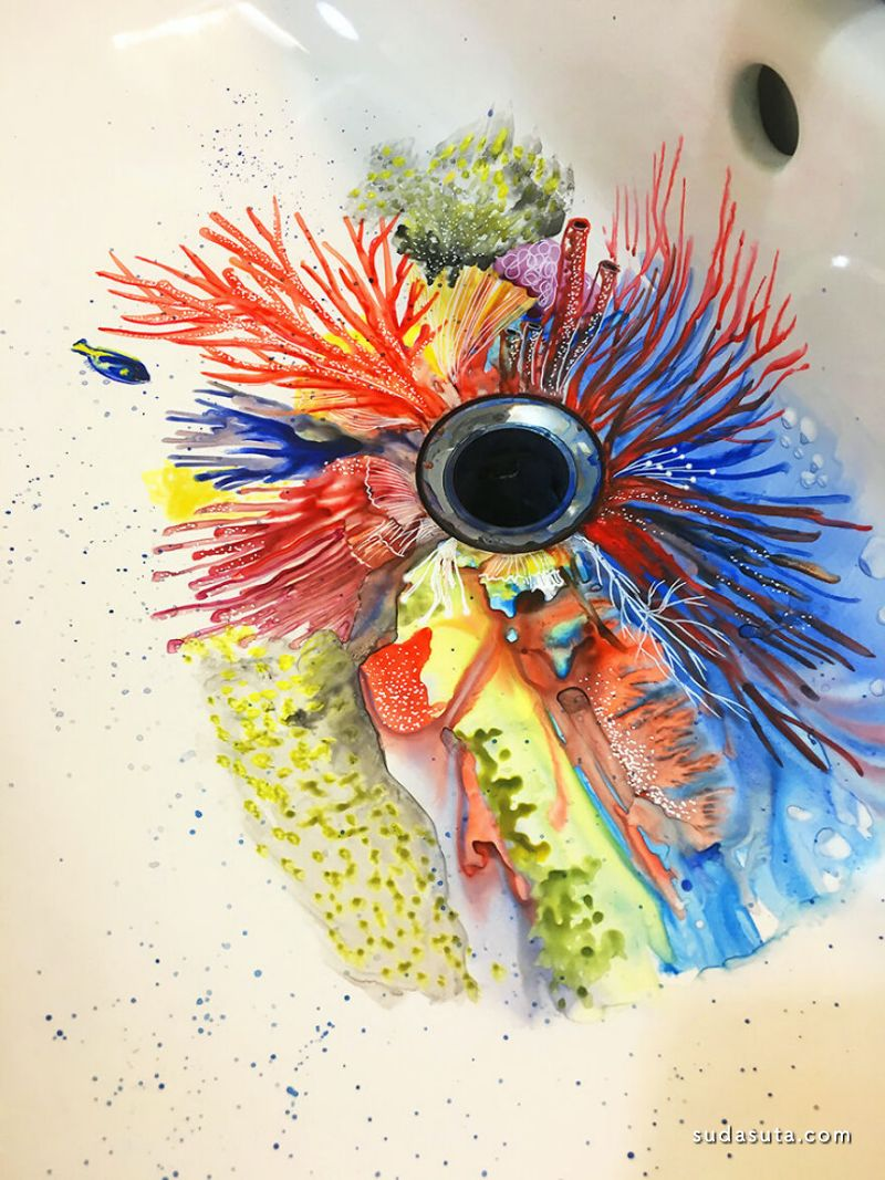 Marta Grossi 创意绘画欣赏 水槽的畅想