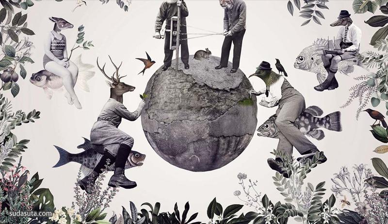 Katarzyna 和Marcin Owczarek 超现实主义拼贴艺术作品欣赏