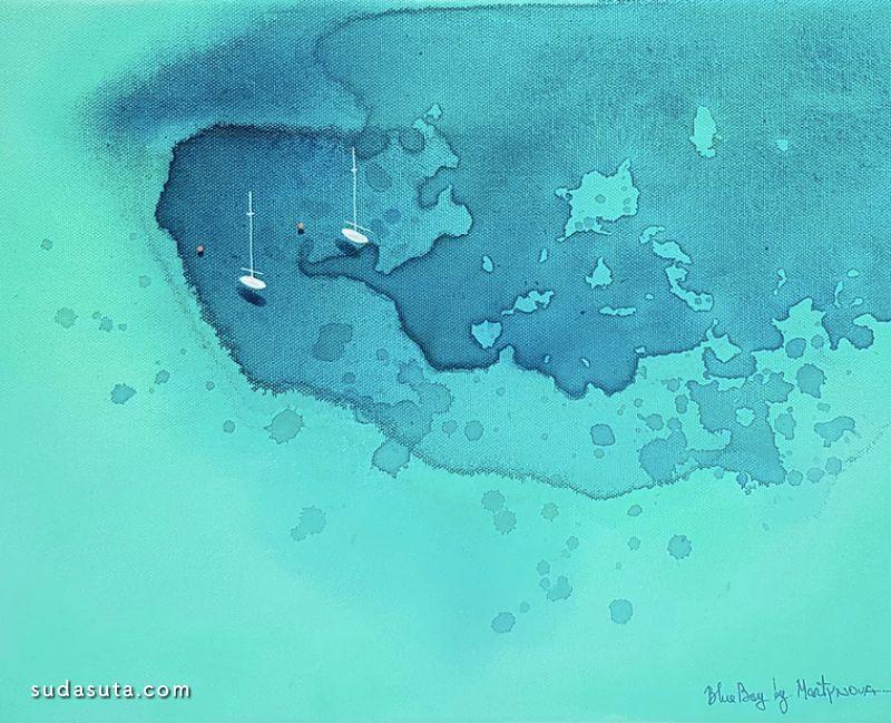 Yulia Martinova 极简主义的海面