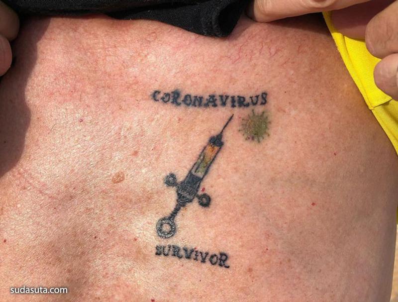 Covid-19 纹身设计欣赏