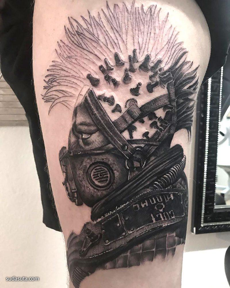 冠状病毒记录 纹身设计欣赏