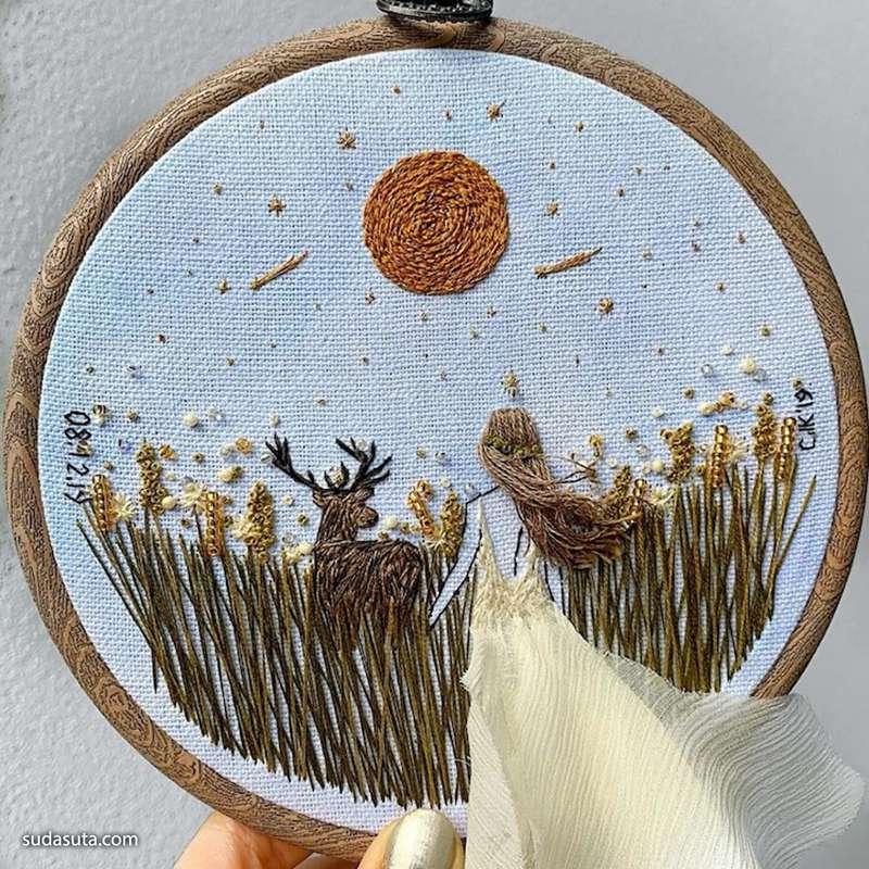 Kayra Handmade 立体刺绣 混合艺术欣赏