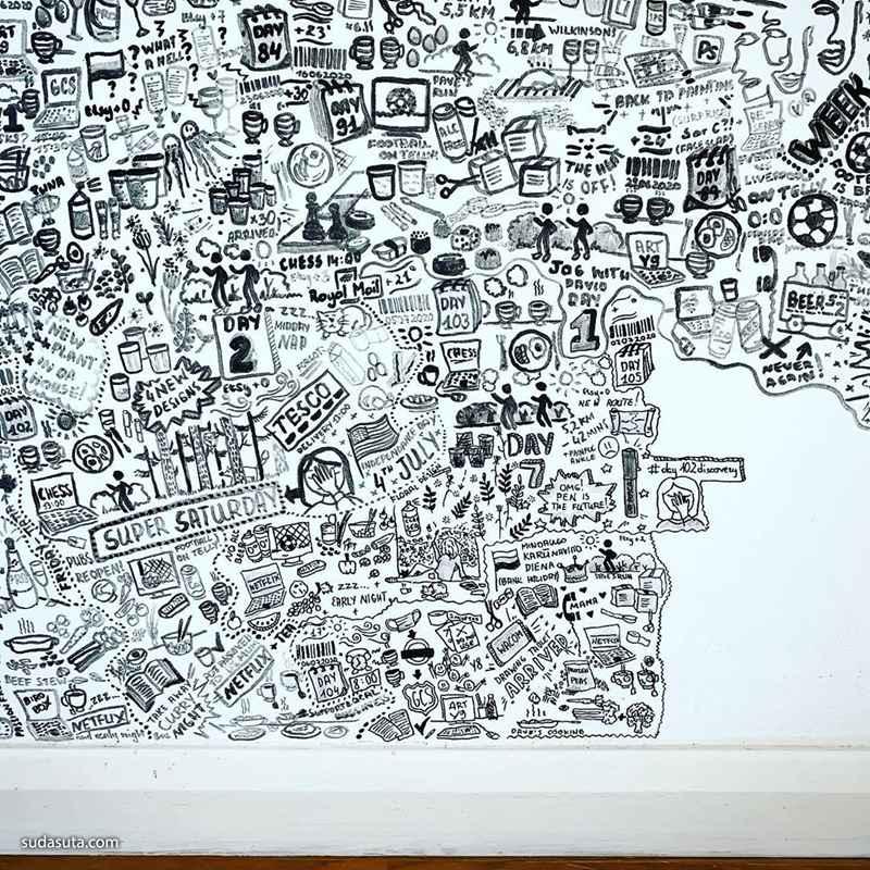 Viktorija 不可思议的手工墙绘