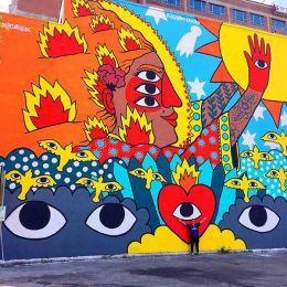 Ricardo Cavolo 色彩艳丽的城市潮流艺术