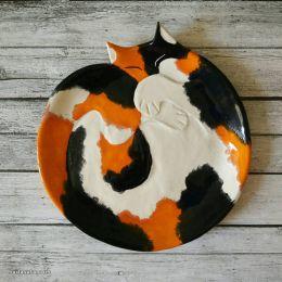 Taniko Ga 猫咪的陶瓷盘子