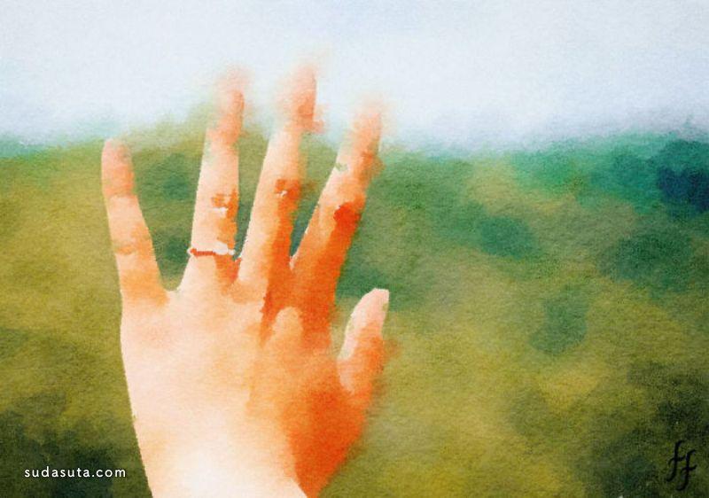 Fanny Fielding 鲜艳的水彩色
