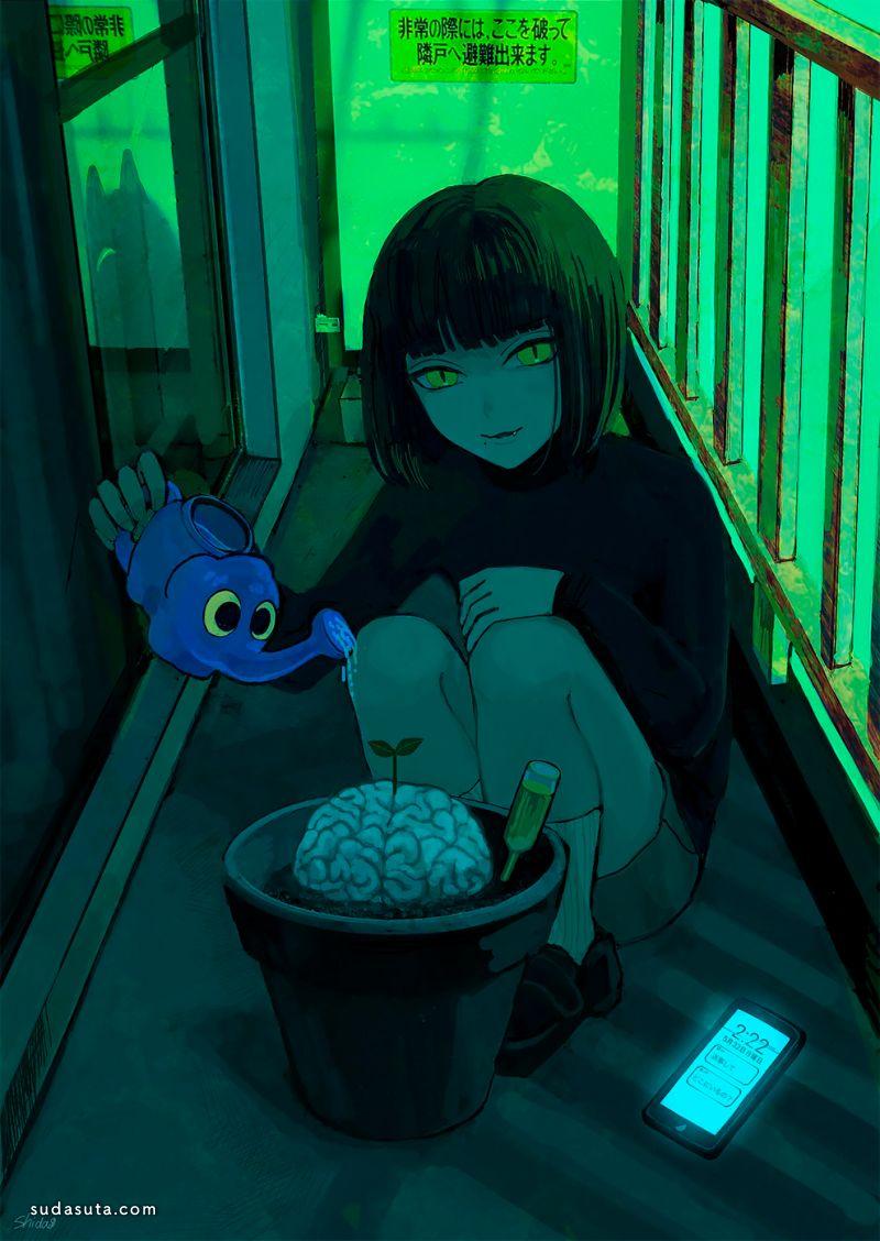 Shida 可爱恐怖的少女漫画