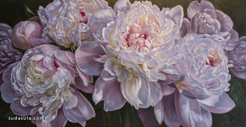 Fiona Craig 单纯的绘画 花朵的艺术