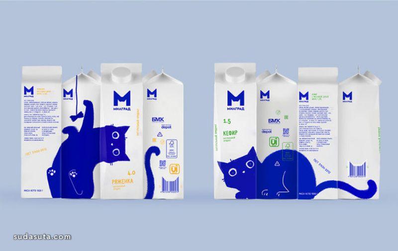 Vera Zvereva 猫咪的牛奶 包装设计欣赏