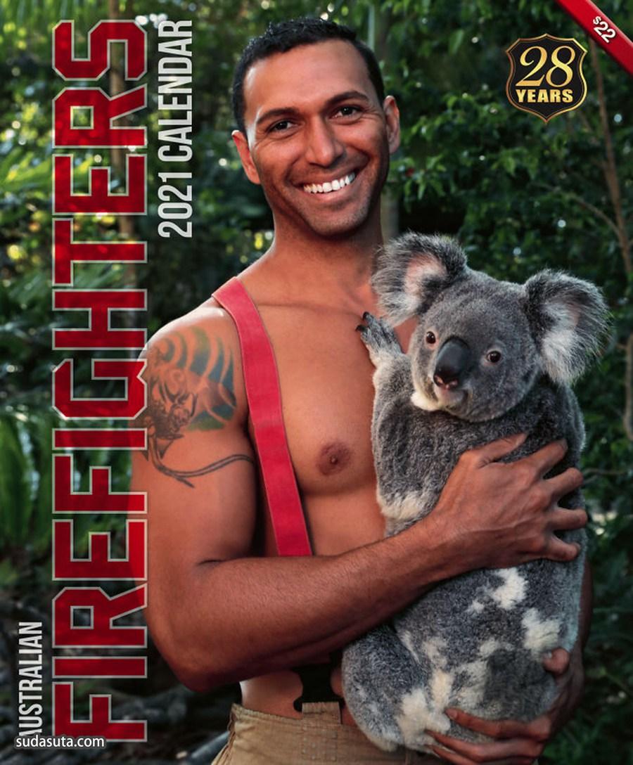 型男与萌宠 澳大利亚的救火队员