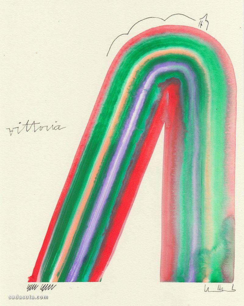 Amber Vittoria 抽象手绘艺术欣赏
