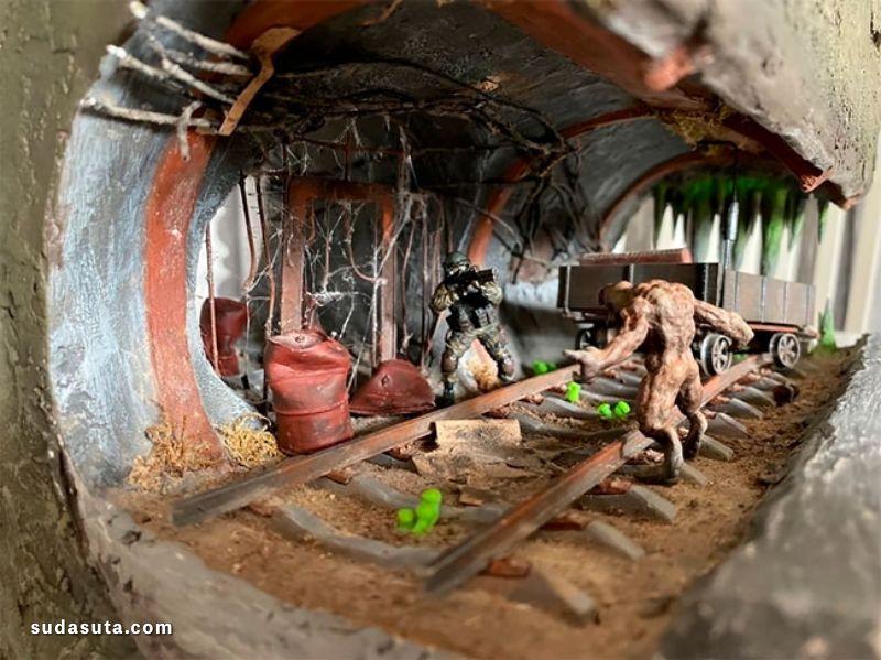 Dmitry Glukhovsky 恐怖隧道 微雕设计欣赏