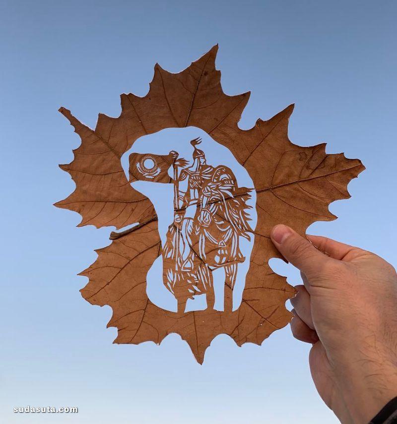 Kanat Nurtazin 切割叶子的艺术