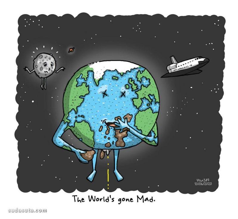 Karl Whiteley 手绘生活漫画