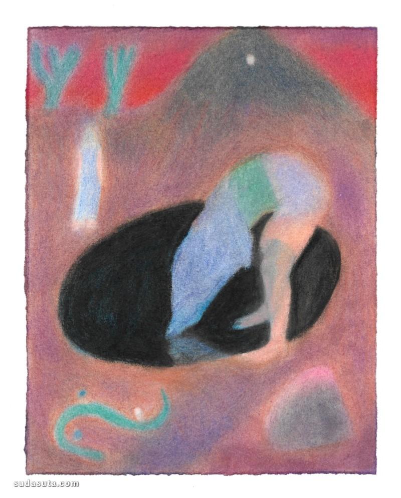 Mary Herbert 抽象粉彩绘画艺术欣赏
