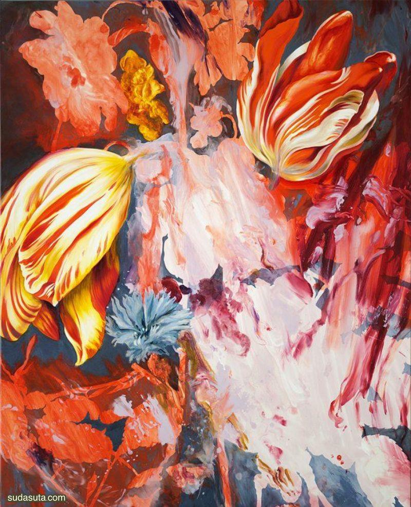 Gaël Davrinche 花卉绘画艺术欣赏