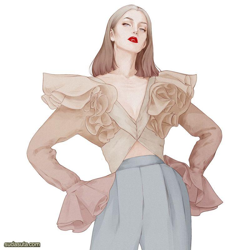 Alex Tang 时尚插画欣赏