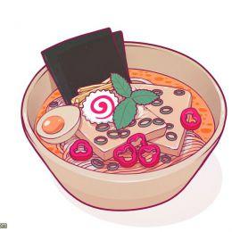 Stephan Lorse 二次元拉面美食插画