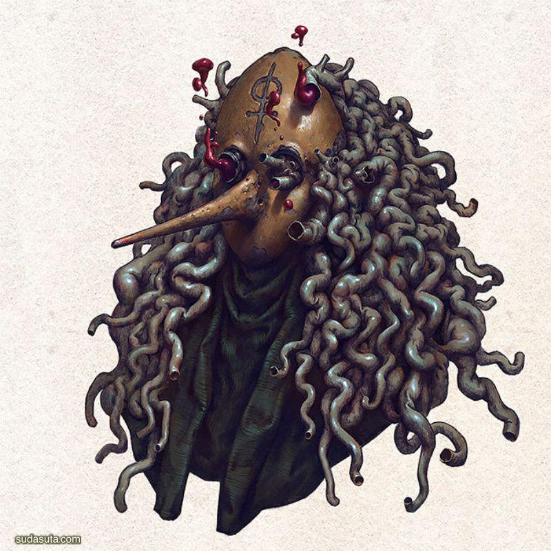 Konstantin Kostadinov 恐怖的卡通造型设计欣赏