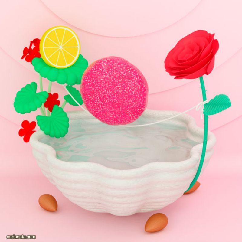 Lisa Odette 数字艺术作品渲染