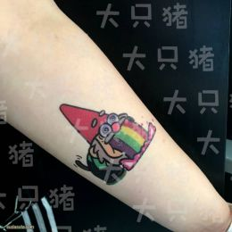 《大只猪在家》有趣的呆萌纹身设计