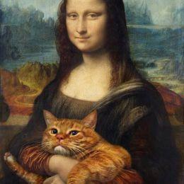 Svetlana Petrova 当猫咪遇到世界名画